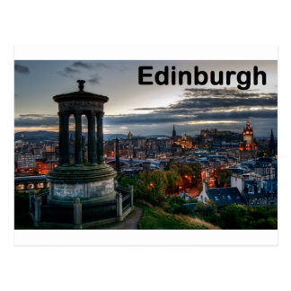 Scotland Edinburgh skyline (St.K) Postcard