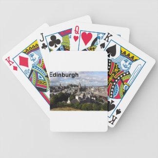 Scotland Edinburgh view (St.K) Bicycle Playing Cards