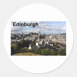 Scotland Edinburgh view (St.K) Classic Round Sticker