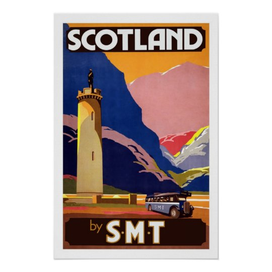Scotland England UK Vintage Travel Posters