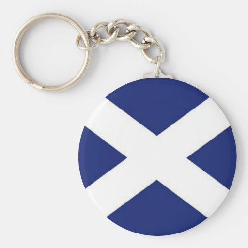 SCOTLAND FLAG BASIC ROUND BUTTON KEY RING