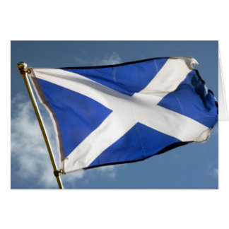 scotland flag card