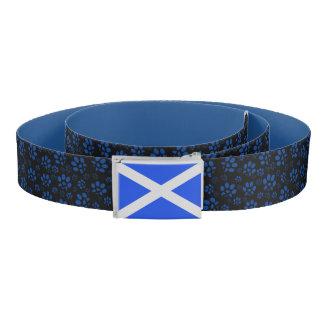 Scotland Flag Cat Paw Print Saltire Belt