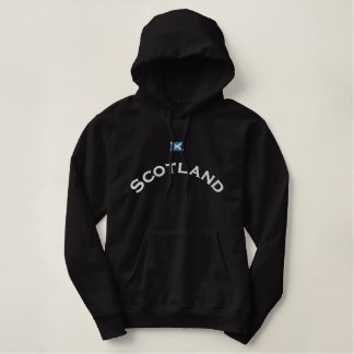 Scotland Flag Embroidered Hoodie