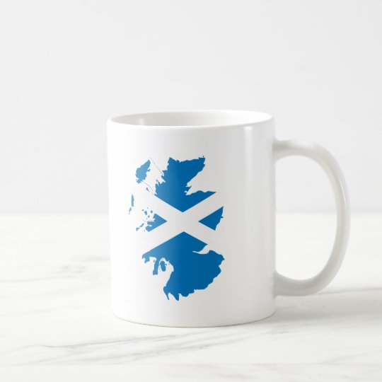 Scotland flag map coffee mug