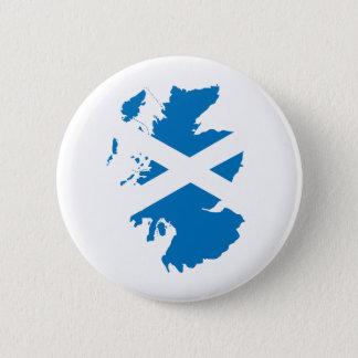 Scotland Flag Map full size 6 Cm Round Badge