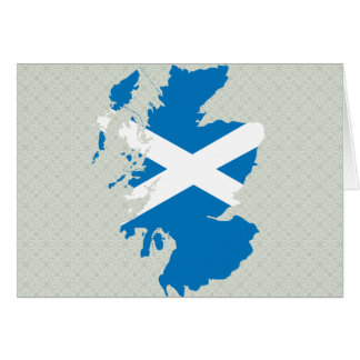 Scotland Flag Map full size Card