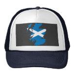 Scotland flag map hats