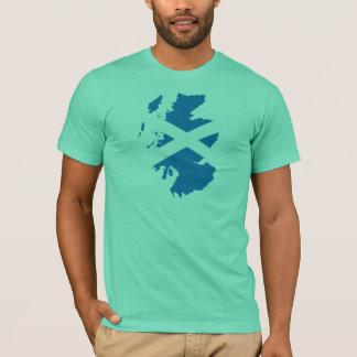 Scotland flag map T-Shirt