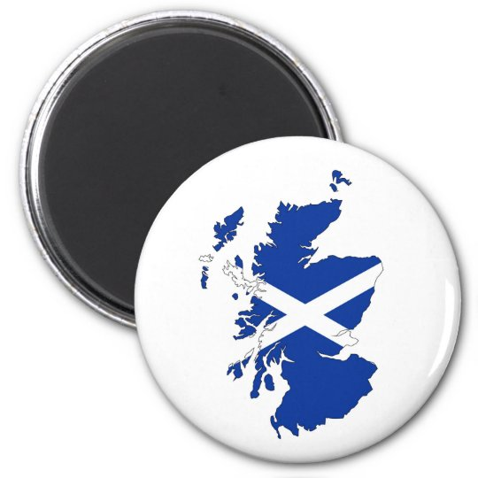 scotland flag map united kingdom country shape magnet
