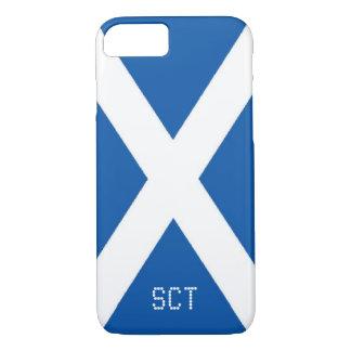 Scotland flag monogram iPhone 8/7 case