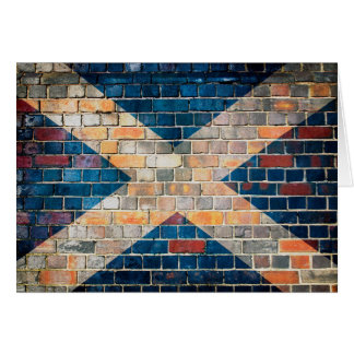 Scotland flag on a brick wall card