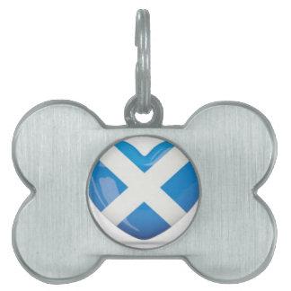 Scotland Flag Pet Name Tag
