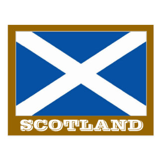 Scotland flag postcard