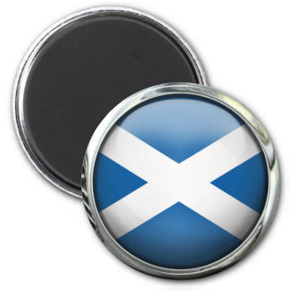 Scotland Flag Round Glass Ball 6 Cm Round Magnet