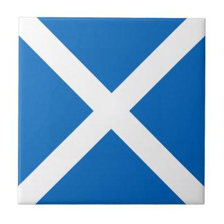 Scotland flag small square tile