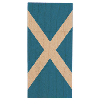 Scotland Flag Wood USB Flash Drive