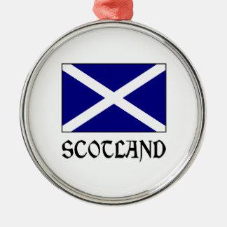 Scotland Flag & Word Christmas Ornament