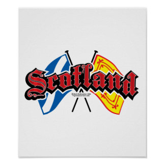 Scotland Flags Poster