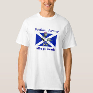 Scotland Forever Alba Gu Brath Thistle Flag Tee