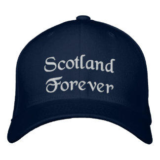 Scotland Forever hat - a quality Scottish souvenir Embroidered Hat