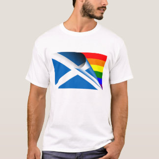 Scotland Gay Pride Rainbow Flag T-Shirt