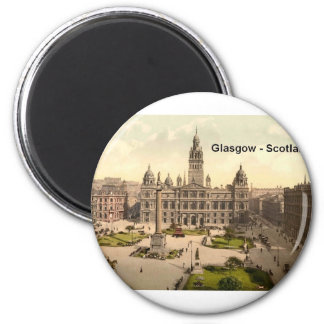 Scotland Glasgow George Square (St.K.) 6 Cm Round Magnet