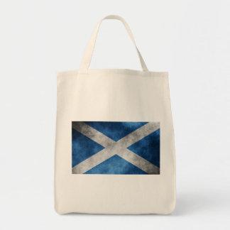 Scotland Grunge- Saint Andrew's Cross Grocery Tote Bag
