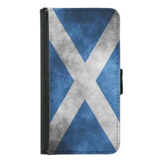 Scotland Grunge- Saint Andrew's Cross Samsung Galaxy S5 Wallet Case