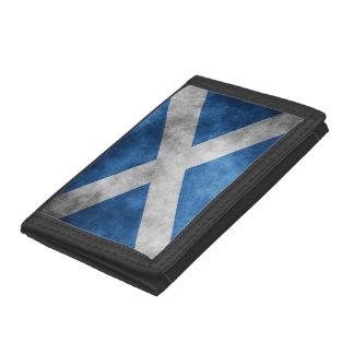 Scotland Grunge- Saint Andrew's Cross Tri-fold Wallet
