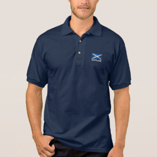 Scotland + Grunge Scottish Flag Polo Shirt