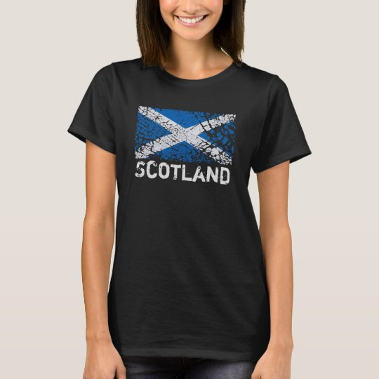 Scotland + Grunge Scottish Flag T-Shirt