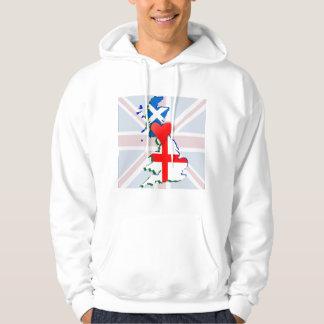 Scotland Heart England Hoodie