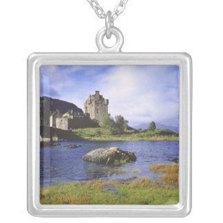 Scotland, Highland, Wester Ross, Eilean Donan 2 Silver Plated Necklace