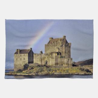 Scotland, Highland, Wester Ross, Eilean Donan Tea Towel