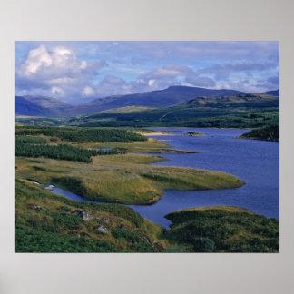Scotland, Highland, Wester Ross, Loch Garry. An Poster
