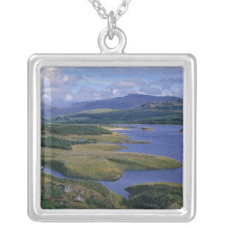 Scotland, Highland, Wester Ross, Loch Garry. An Silver Plated Necklace