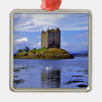 Scotland, Highland, Wester Ross, Loch Linnhe. A Silver-Colored Square Decoration