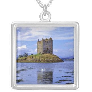 Scotland, Highland, Wester Ross, Loch Linnhe. A Square Pendant Necklace