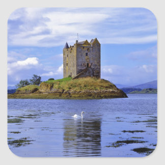 Scotland, Highland, Wester Ross, Loch Linnhe. A Square Sticker