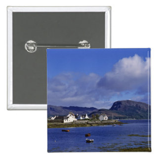Scotland, Highland, Wester Ross, Plockton. 15 Cm Square Badge