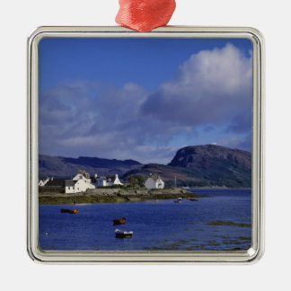 Scotland, Highland, Wester Ross, Plockton. Silver-Colored Square Decoration