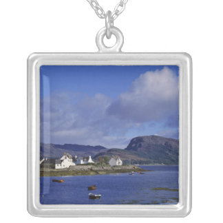 Scotland, Highland, Wester Ross, Plockton. Silver Plated Necklace