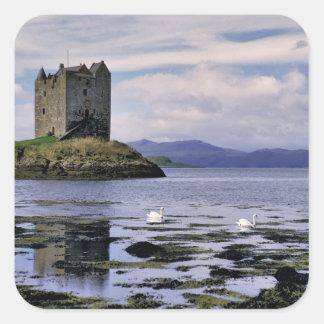 Scotland, Highland, Wester Ross, Stalker Square Sticker