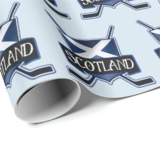 Scotland Ice Hockey Flag Gift Wrap
