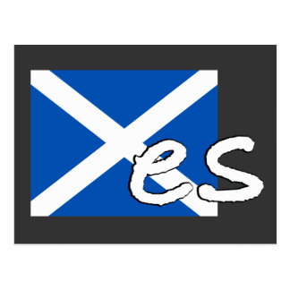 "Scotland Independence: Scottish flag spells ""Yes"", Postcard"