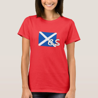 "Scotland Independence: Scottish flag spells ""Yes"", T-Shirt"