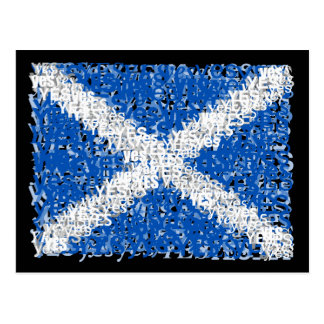 Scotland Independence: Scottish Yes flag, Postcard