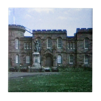 Scotland Inverness Castle Art snap-37689a  jGibney Small Square Tile