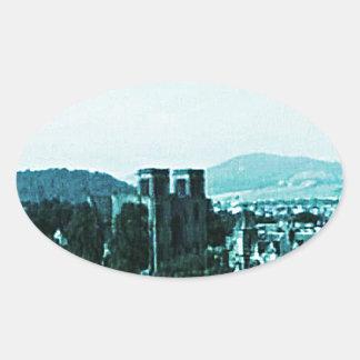 Scotland Inverness Castle Art snap-38784  jGibney Oval Sticker